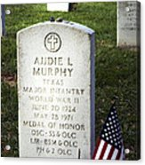 Audie Murphy - Most Decorated Acrylic Print