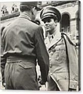 Audie Murphy Shaking Hands With French Acrylic Print