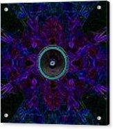 Audio Purple Glow Acrylic Print