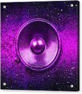 Audio Purple Acrylic Print