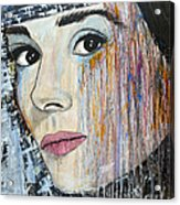 Audrey Hepburn-abstract Acrylic Print