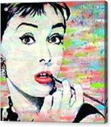Audrey Hepburn Art Breakfast At Tiffany's Acrylic Print