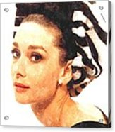 Audrey Hepburn In Watercolor Acrylic Print