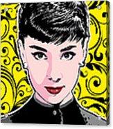 Audrey Hepburn Pop Art Acrylic Print