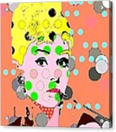 Audrey Hepburn Acrylic Print by Ricky Sencion