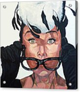 Audrey Hepburn Acrylic Print by Tom Roderick