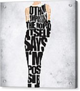 Audrey Hepburn Typography Poster Acrylic Print
