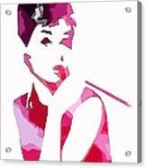 Audrey Pop Art Acrylic Print