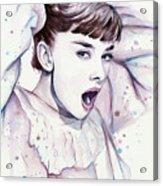 Audrey - Purple Scream Acrylic Print