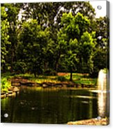August By The Fountain Acrylic Print
