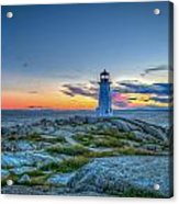 August Sunset At Peggy's Cove 2 Acrylic Print