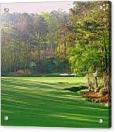 Augusta Hole 12 Acrylic Print by Bo  Watson
