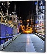 Auke Bay By Night Acrylic Print