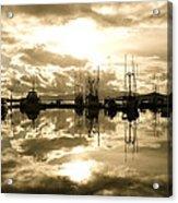 Auke Bay In Sepia Acrylic Print