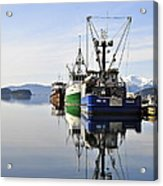 Auke Bay Reflection Acrylic Print