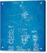 Aull Cigarette Ring Patent Art 1938 Blueprint Acrylic Print