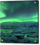 Aurora Borealis Above Jokulsarlon Acrylic Print