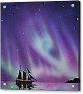 Aurora Borealis from a ship Acrylic Print