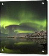 Aurora Borealis From The Beach Acrylic Print