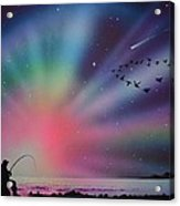 Aurora Borealis Gone Fishing Acrylic Print