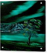 Aurora Borealis In Oils. Acrylic Print