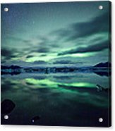 Aurora Borealis Over Lake Acrylic Print