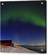 Aurora Borealis Panorama Pan Starrs Acrylic Print