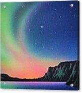 Aurora Borealis with Deer Acrylic Print
