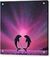 Aurora Borealis with two Dolphins Acrylic Print