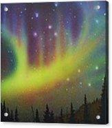 Aurora Borealis Yellow Streak Acrylic Print