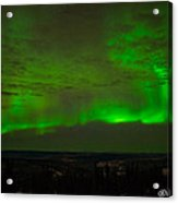 Aurora Flare With Clouds Acrylic Print