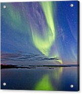 Aurora In Green And Violet Acrylic Print