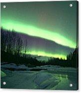 Aurora Over Ice Acrylic Print
