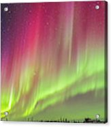 Aurora Panorama Over Northern Studies Acrylic Print