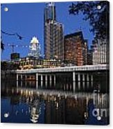 Aus Downtown Reflcetions Acrylic Print