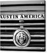 Austin America Grille Emblem -0304bw Acrylic Print
