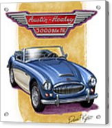 Austin Healey 3000 Blue-white Acrylic Print