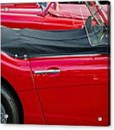 Austin Healey Red Acrylic Print
