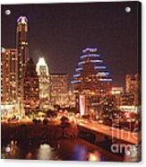 Austin Lights The Night Acrylic Print by Terry Rowe