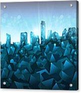 Austin Skyline Geometry 3 Acrylic Print