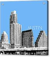 Austin Skyline - Sky Blue Acrylic Print