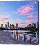 Austin Skyline At Sunset Acrylic Print