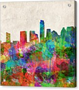 Austin Texas Abstract Panorama 4 Acrylic Print
