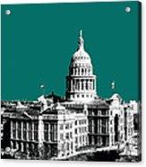 Austin Texas Capital - Sea Green Acrylic Print