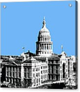 Austin Texas Capital - Sky Blue Acrylic Print