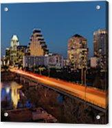 Austin, Texas Cityscape Evening Skyline Acrylic Print