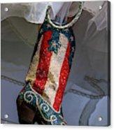 Austin Texas - Red White Blue Sequin Acrylic Print