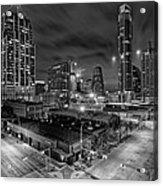 Austin Texas Skyline Get Out The Crane Construction Time Again Acrylic Print