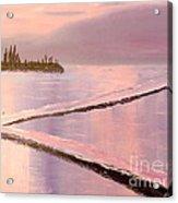 Austinmer Pool At Sunset Acrylic Print