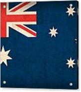 Australia Flag Vintage Distressed Finish Acrylic Print